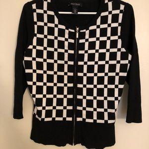 White House Black Market Full Zip Sweater Size S